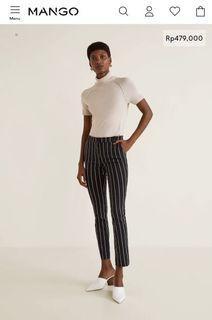 Stripe Pants - Mango Crop Slim-Fit Trousers