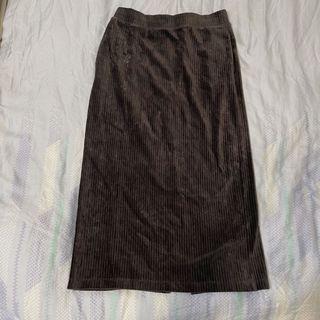 Uniqlo 灰色絨長裙