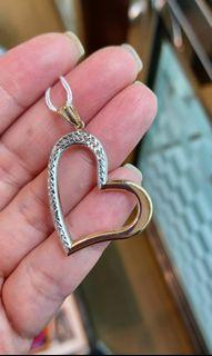 14K585 White and Yellow Gold Pendant