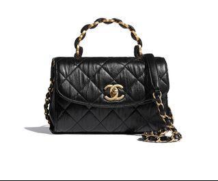 即時交收 🔥 2021 新款限量 Chanel Mini Flap with Handle cf cf20