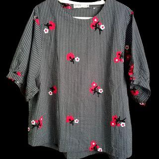 5XL Embroidered Blouse