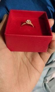 Au gold ring