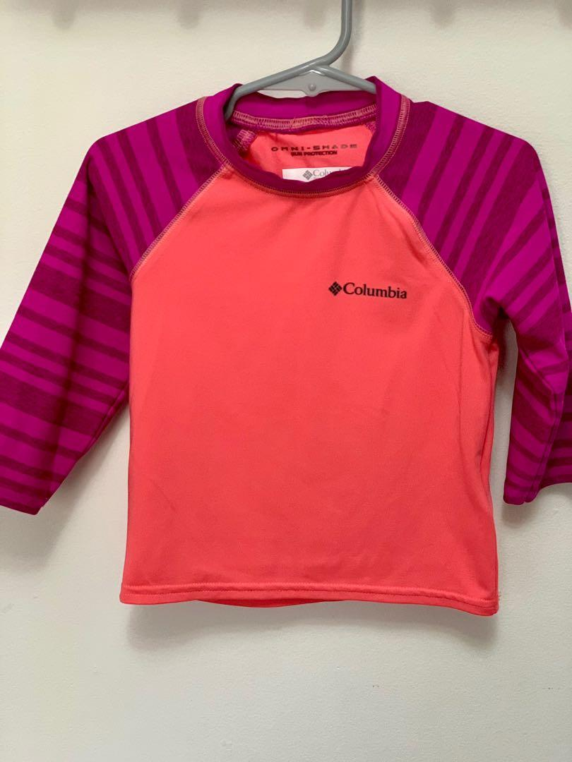 Brand new Columbia girls omni shade sun protection top sz 4-5y