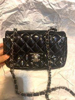 Chanel 20cm 黑色漆皮