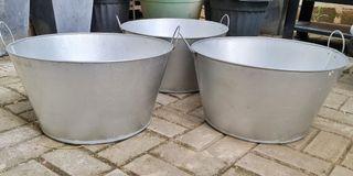 Galvanized Ice Beer Buckets