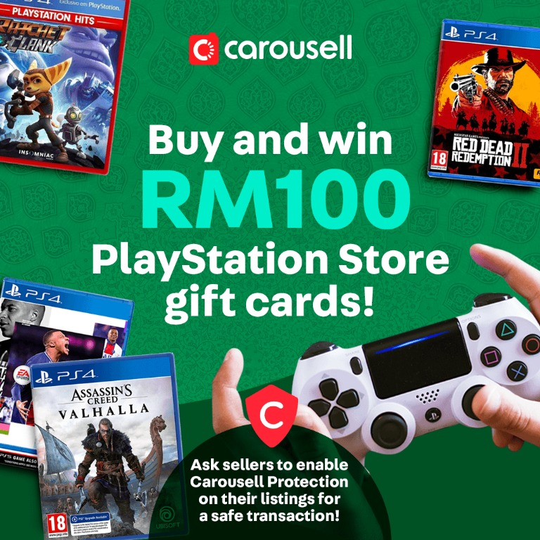 How To Win Rm100 Playstation Store Gift Card Video Gaming Video Games On Carousell