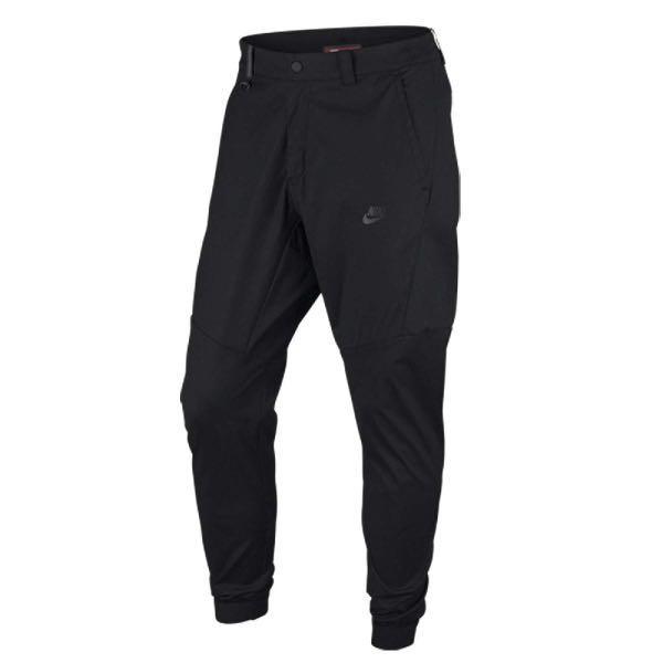 Nike Sportswear Bonded 大防水拉練 黑色 休閒長褲 823364-010 縮口