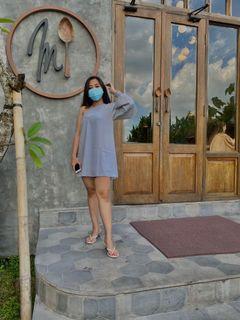 One shoulder dress abu abu