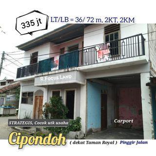 Rumah Pinggir Jalan 335jt di Cipondoh