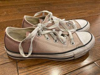 sparkly pink converse size 6