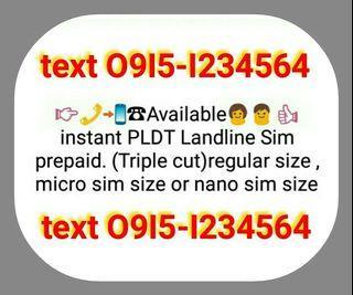 Tricut or nano sim Pldt landline prepaid sim