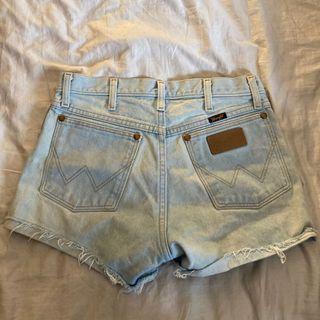Wrangler Ripped Denim Shorts