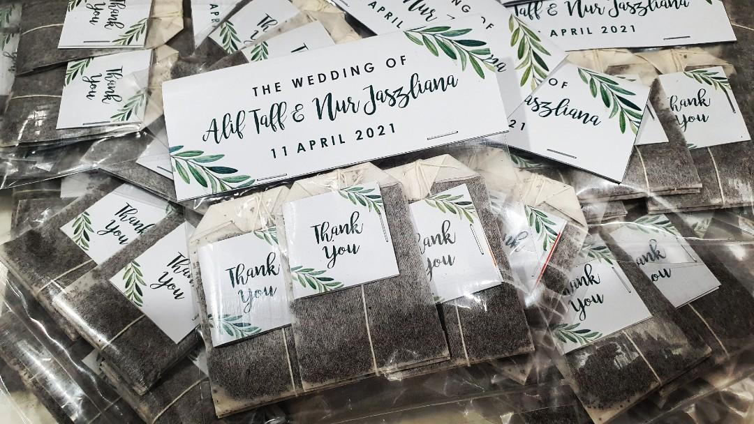 2021 Guests Doorgift Teabag Berkat