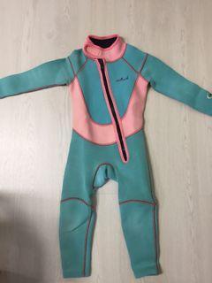 兒童游泳保暖衣男童女童加厚保暖游水3-4歲