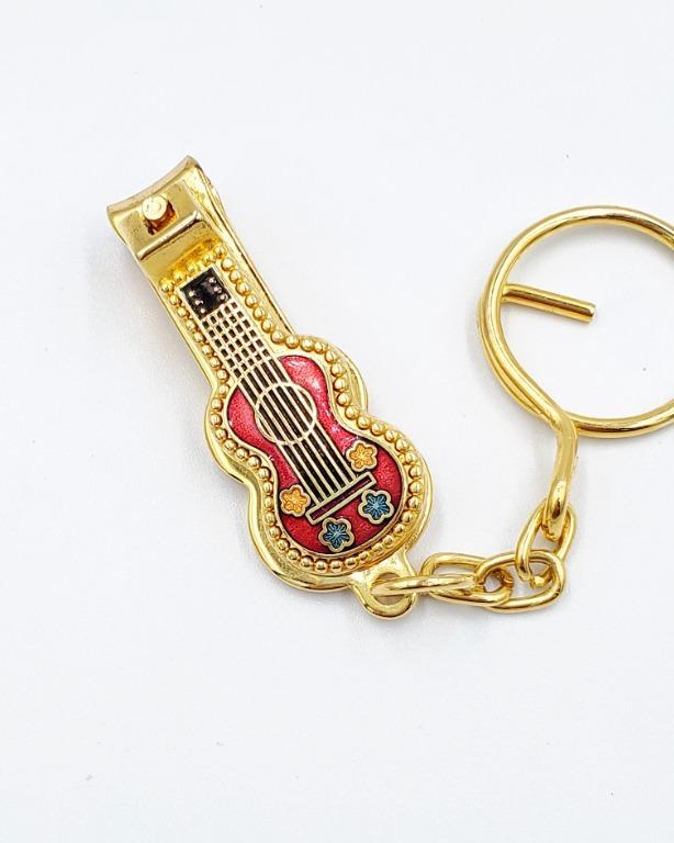 景泰藍吉他造型指甲刀鑰匙圈(7色)