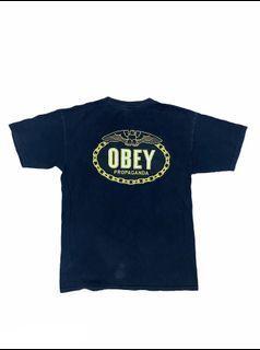 古著 Obey 雙面 Logo Graphic tee