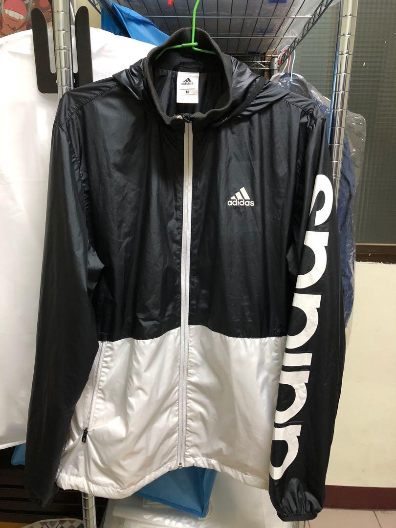 adidas 運動風衣外套 m號 7-8成新