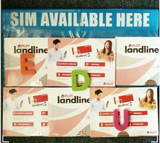 Available Pldt Landline sim relodable free50load Pldt Sim 02areacode 2021