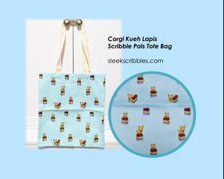 Corgi Kueh Lapis Tote Bag