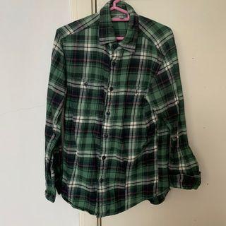 Green Uniqlo Flannel