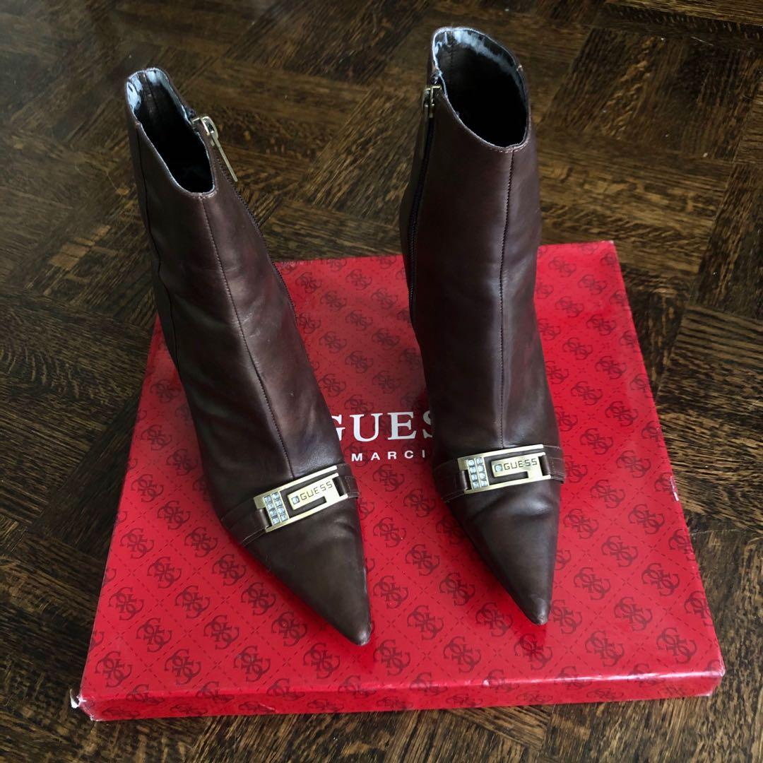 GUESS Bronze Leather Boots