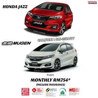 HONDA JAZZ MONTHLY FROM RM754*