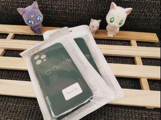 iPhone 12pro霧面果色系列手機軟殼 (橄欖綠)