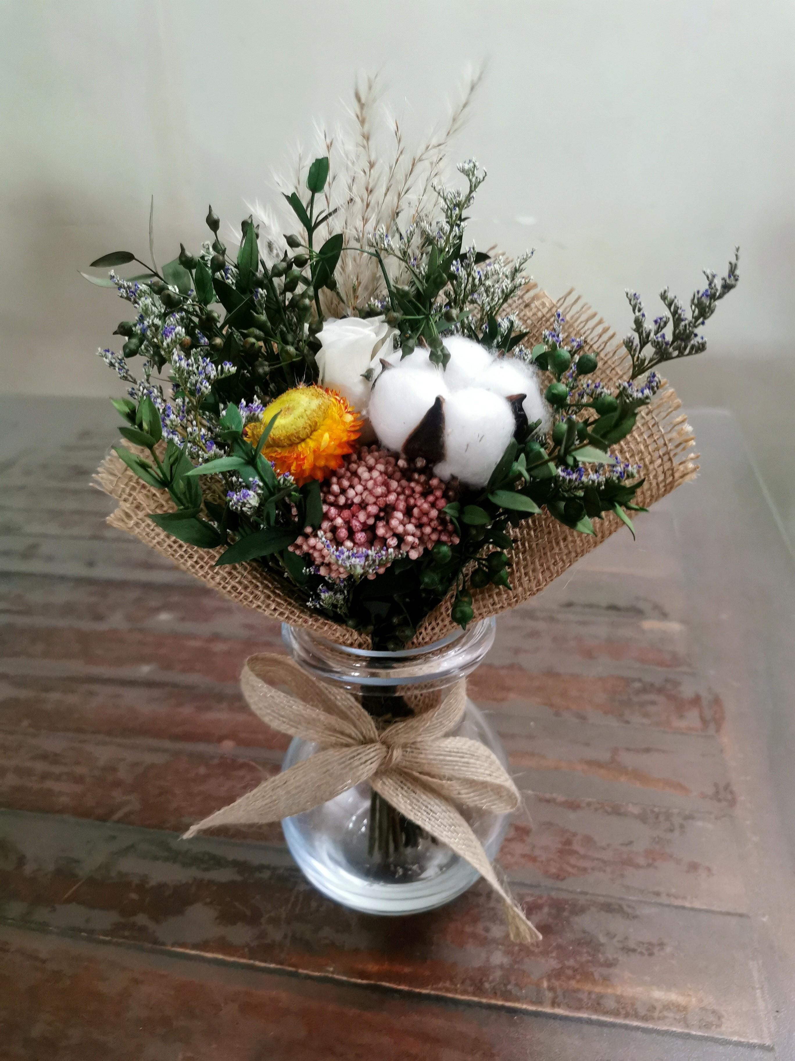 Petite preserved flowers bouquet