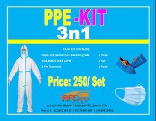 PPE KIT PPE SUIT HAZMAT SUIT COVERALL SUIT BUNNY SUIT