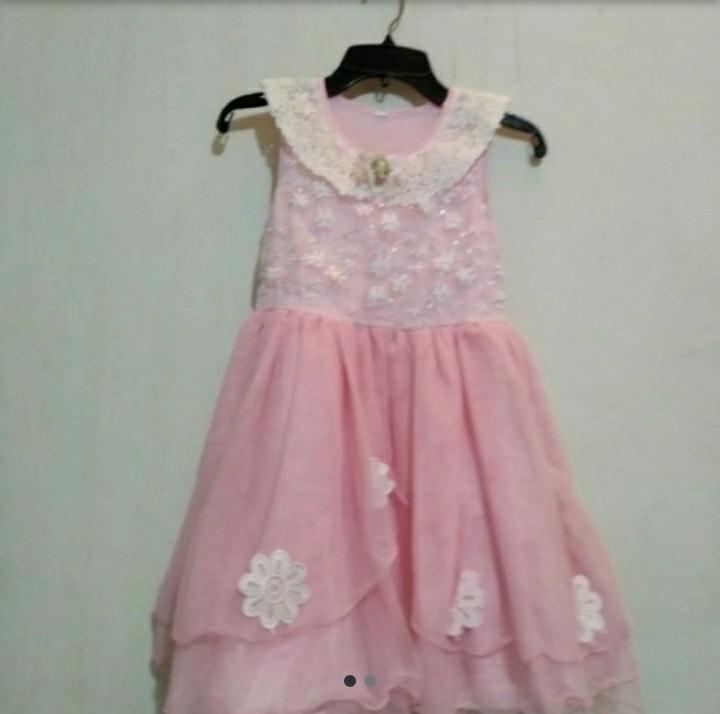 Preloved Gaun Anak Perempuan Pink Bekas
