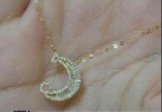 REAL NATURAL INITIAL DIAMOND NECKLACE