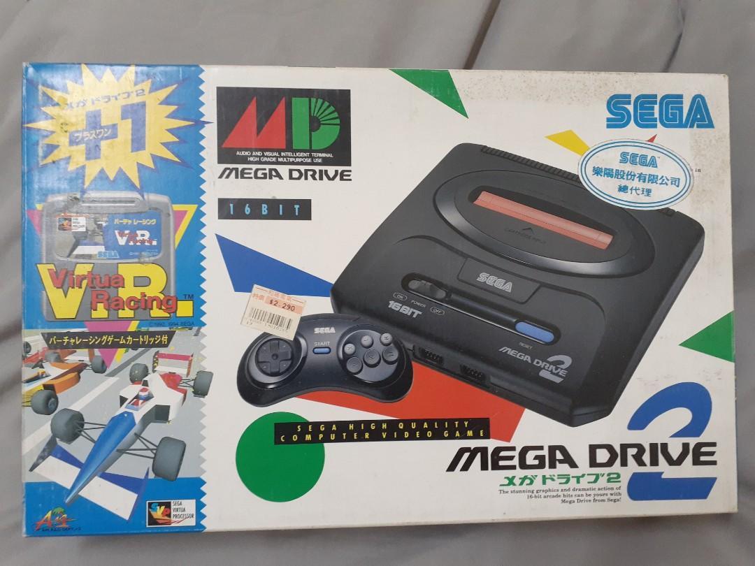 【個人珍藏稀有絕版珍品】SEGA MEGA DRIVE2 原廠正版外盒