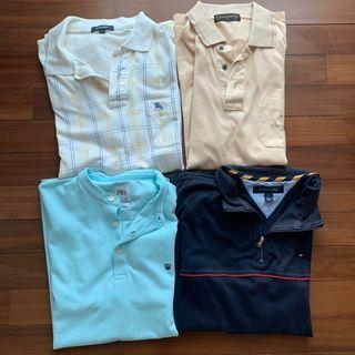 Vintage Polo Shirts Bundle (Burberry , Tommy Hilfiger , Zara , Gianni Valentino)