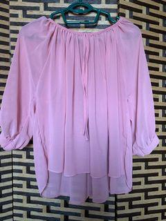 Woman Blouse Puffed Sleeves