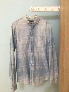 21man水藍色襯衫外套