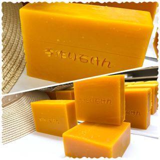 紅棕櫚橄欖蜂蜜🐝、甜橙🍊及青柚茶精油手工皂85g