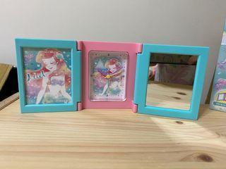 小美人魚相框時鐘鏡