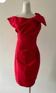 紅色宴會洋裝 轉售*