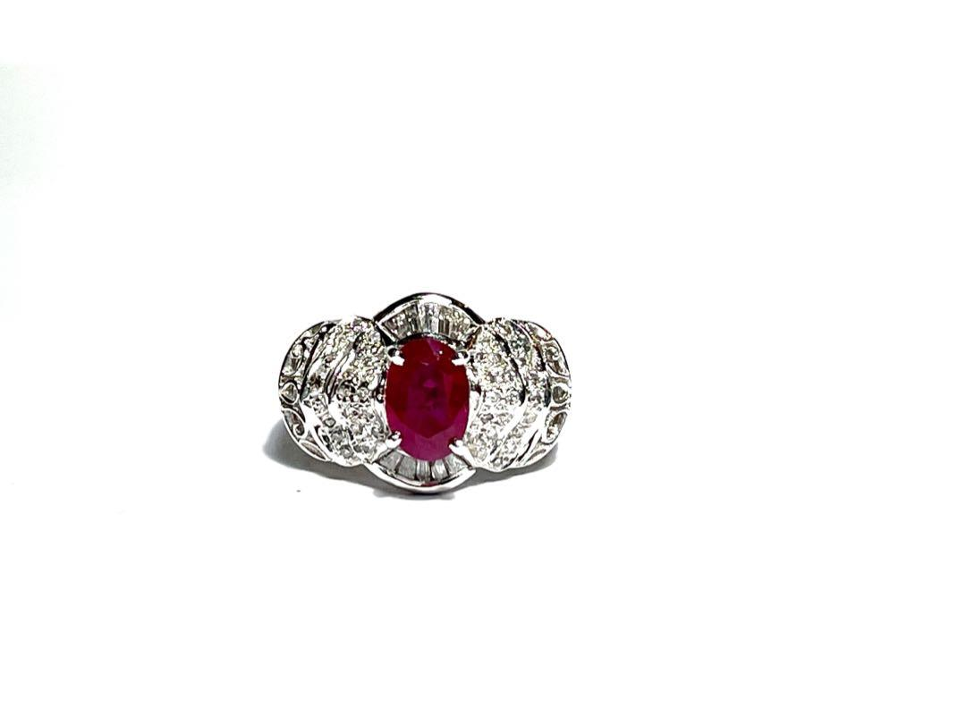 [高級]天然紅寶石戒指 💍 紅寶石2.03克拉 🌟真鑽k金戒台