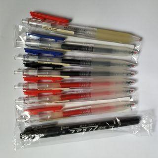 無印良品 筆 滑順按壓再生膠墨筆 奇異筆