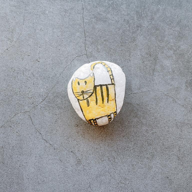 平常小姐┋收藏釋出┋轉賣【彩繪石頭】貓咪 手繪職人 石頭紙鎮 設計品 家飾