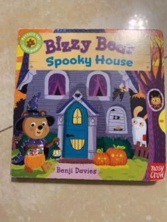 手拉硬體書 英文原文童書 bizzy bear spooky house