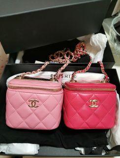 (全新現貨) Chanel Mini Vanity Case 小盒子 黑色 粉紅色