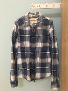 Abercrombie 藍格子襯衫外套