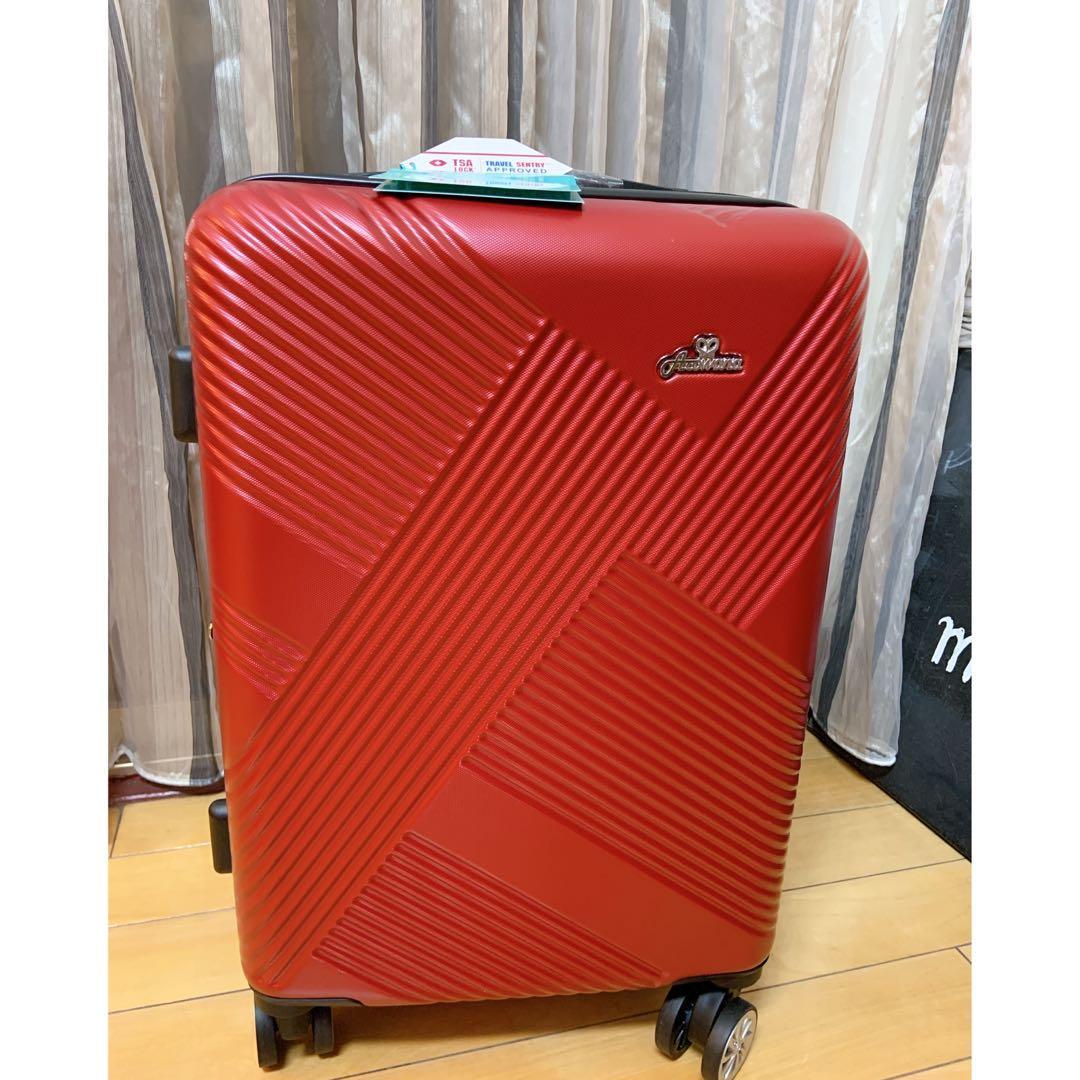 Arowana亞諾納 20吋 十字斜紋防爆拉鍊 登機箱 行李箱 旅行箱 紅色 國內旅遊