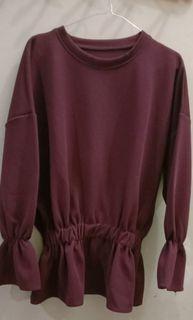 blouse maroon cantik