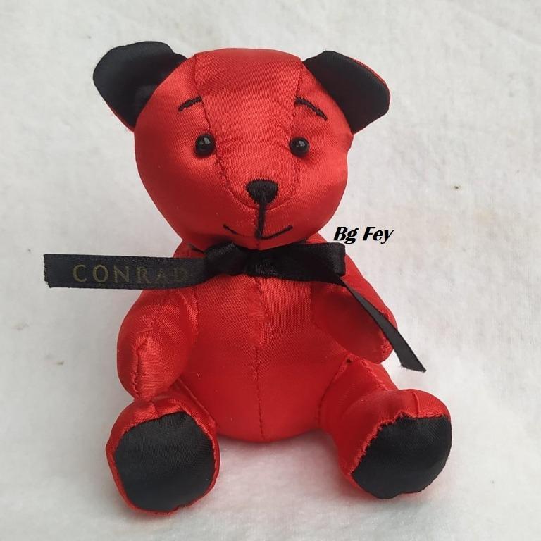 Boneka Teddy Bear Merah Conrad Wedding Tinggi 9 cm