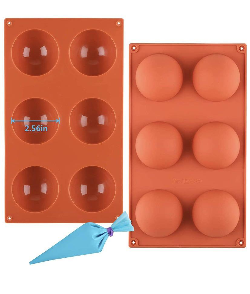 Brand new Chocolate Mold, 6-Cavity Semi Sphere Silicone Molds 2 pack