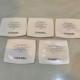 Chanel自然高光塑顏粉底液x5