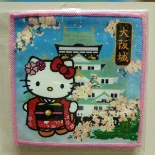 Hello Kitty 葉朗彩々 杯墊 眼鏡布 相機布 除塵布 螢幕布 清潔布 絨布 鏡頭布 纖維絨 購自日本 日本製 Made in Japan